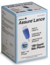 ASSURE LANCET 28G 1MM (100/BX)