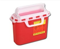 SHARPS CONTAINER RED 5.4QT (20/CS)