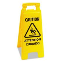 SIGN WET FLOOR CAUTION 2-SIDE (1/EA)